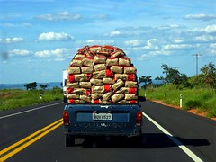 The Weight Off my Shoulders (joaobambu) Tags: 2005 road trip travel brazil sky car topv111 brasil clouds volkswagen interestingness interesting highway driving story estrada charcoal traveling asphalt heavy load ontheroad weight carry symbolic carrying marlia carvao