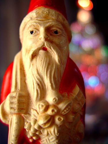 yule saturnalia christmas holiday santa saintnicholas kriskringle tree evergreen lights decorations figurine belleville n