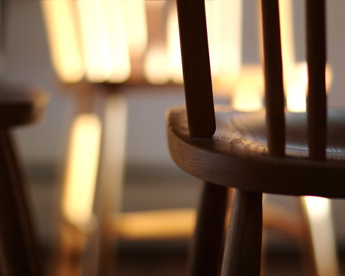 Morning light on chairs