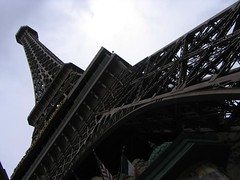 The fake Eiffel Tower during the day