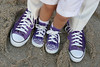 purple shoes wedding photo