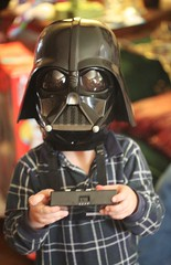 Darth Vader (Thomas Hawk) Tags: christmas playing game starwars child mask 10 william fav20 darthvader fav10 sothisisamerica 18photographs