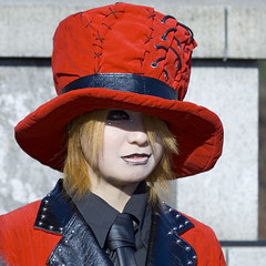The Red Hatter (Life of David) Tags: topv111 japan tag3 taggedout fruit tokyo interestingness topv333 mod punk tag2 tag1 none emo harajuku lookatme punker wwwdavidlevinsonphotographycom