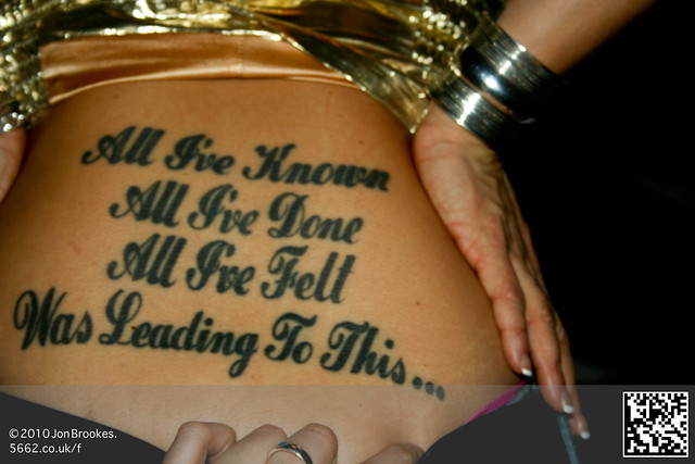 Tattooed Ass. Are these the lyrics from Gorecki by Lamb?