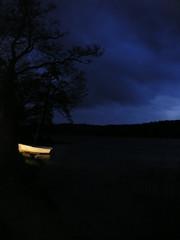 Loch Ard, Kinlochard, Scotland (dearbarbie) Tags: uk light lake night dark scotland boat loch lochlomond aberfoyle lochard kinlochard