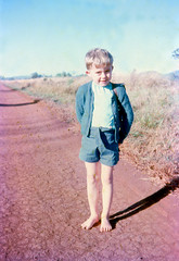 0156 rae waiting for the school bus c1964