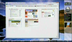 Internet Explorer 7 for Windows Vista tab view