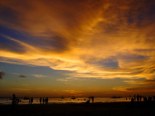 boracay sunset on fire