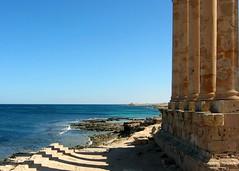Temple of Isis, Sabratha, Libya. ( Libyan Soup) Tags: africa beach sahara temple coast mediterranean roman columns edge libya seashore isis beachfront beachhouse antiquity sabratha libyansoup