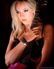 Vinita (Brooks Ayola) Tags: color portrait woman guitar metal blonde superchicks