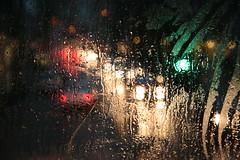Rainy Day (Bruno Girin) Tags: bus window water rain lights drops