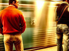 Rush Hour ('Ana) Tags: life people man colors speed subway lights women waiting energy traffic faces lisboa great6 save10 great5 great1 great4 great2 savedbythedeltemeuncensoredgroup great3 arpa great7 15favesandup jan06