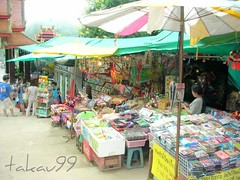 Street Shops at Wat Phra That Doi Suthep, Thailand