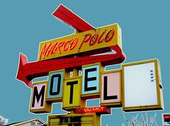 Marco Polo Motel (Curtis Gregory Perry) Tags: road old travel light usa signs west color colour classic luz glass sign electric night america vintage hotel licht us inn highway colorful neon pretty glow unitedstates state northwest bright lumire lodging tube tubes motel ne retro gas beaver chain 99 american 200 views signage western electricity pacificnorthwest americans marco glowing instructions colourful dying popular electrical vacancy polo suites luce instruction muestra placard important advisory accomodation signe