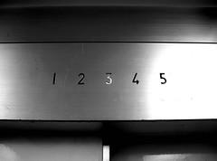 The third floor... (b7_banana) Tags: blackandwhite bw contrast elevator number