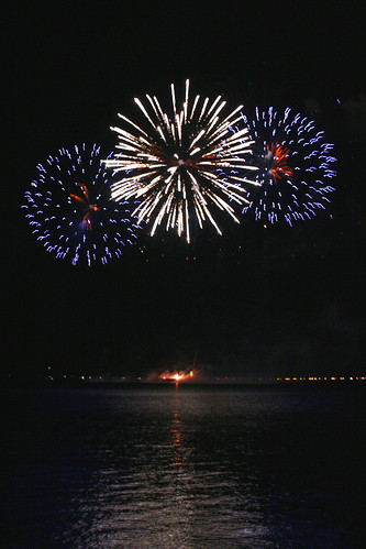 Fireworks over Manila Harbor