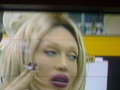 CBB - Pete Burns Withering Look (With Ciggie) (Mot) Tags: beautiful telly gorgeous lips surgery genius cbb scouser posthuman mustwin celebritybigbrother peteburns hardknock