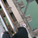 on the bridge, looking down thumbnail