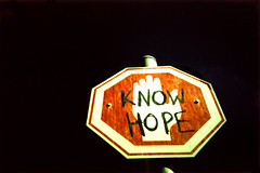 Know Hope (Maya Newman) Tags: red sign hope graffiti see israel telaviv lomo lca xpro all peace tel aviv over protest kind these sure beats nofuture knowhope knowhopeisamemeberofsmdcrew itsoneperson hesjustrealyactive