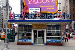 NYPD Blue (Sciamano) Tags: newyorkcity newyork nyc ny 2006 times square timessq timessquare luci lights nikon d50 nikond50