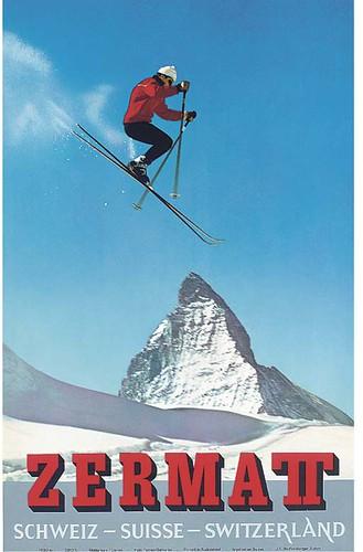 Vintage Zermatt poster por IanL.