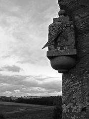 Sundial (musicmuse_ca) Tags: sky blackandwhite bw 15fav church topv111 stone clouds rural wonder scotland interestingness poetry poem song sundial burns robertburns ancestors kirk linton scottishborders interestingness440 i500 memorieofthesomervilles
