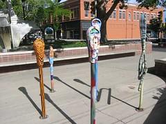 Parking Meters, Convention Center, Grand Junction, Colorado (hanneorla) Tags: art 2004 modern colorado contemporaryart contemporary conventioncenter publicart sculptures grandjunction parkingmeters hanneorla