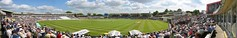 Cricket at Edgbaston (Heaven`s Gate (John)) Tags: uk england sky panorama green grass rain sport clouds ball artistic stadium widescreen crowd bat panoramic victory cricket imagination leisure heavensgate edgbaston asheswinners johndalkin