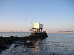 A Carrelet * with Royan in the background (kittymax) Tags: blue france nature senery royan carrelet poitoucharentes saintgeorgesdedidonne stgeorgesdedidonne kittymax fujifilmfinepixa350