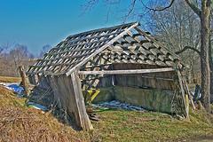Open Shed (dok1) Tags: old winter ohio sky abandoned barn barns weathered backroads pikecountyohio appalachia ruraldecay sheds dok1