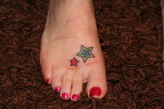 shondi's retouched stars (skaw) Tags: tattoo stars bees tattoos shondi