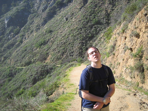 Jon Lesser enjoying a hike in Big Sur