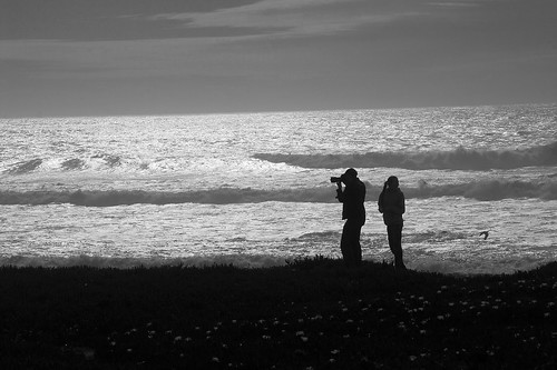 Father and Daughter/Monochrome