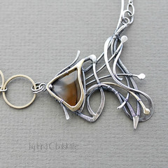 Fish (Taniri) Tags: agate necklace jewellery brass sterlingsilver