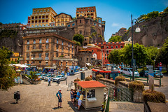 Beautiful Sorrento, Italy (Michael Mendonca) Tags: trip light summer people cliff mountain color water leaves yellow ferry fruit contrast port fun island happy boat lemon dock amalficoast tour place bright thing sigma sunny tourist gelato guide fullframe nikkor vignetting ff mediterraneansea limoncello limon vibrance ncl 2015 shoreexcursion sorrentoitaly norwegiancruiseline capriitaly nikond700 giantlemons sigma50mm14 nikkor24mmf14g