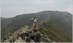 Striding-edge (stu.bloggs..Dont do Sundays) Tags: summer mountain mountains june walking landscape dangerous rocks phil hiking lakedistrict ridge edge cumbria fells summit elevation pathway stridingedge helvellyn patterdale striding rockyoutcrops