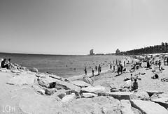 Barceloneta (l.casadio) Tags: barcelona sea summer sun water mare estate gente playa barceloneta di acqua viaggio spiaggia barcellona spagna scogli catalogna caldo maturità cataluna limpida