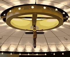 CHAPEL....... (marsha*morningstar) Tags: light shadows christ cross chapel digitallyaltered stjoesmercyhospital