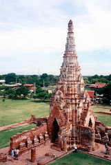 Ayutthaya (Jae at Wits End) Tags: red building tower rock stone thailand religious temple ruins worship top structure sacred wat turret
