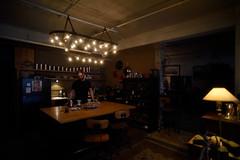 jason in his kitchen (rrobert frankk) Tags: kitchen coffee loft design extreme large spaces lamplights