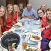 Team Montana at dinner