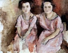 IMG_7336 Jules Pascin. 1885-1930. Paris.  Les deux soeurs. The two sisters. vers 1925.  Bremen (jean louis mazieres) Tags: museum painting muse peinture peintres julespascin bremenkunsthalle musebremen museumbremen