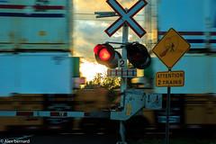 Passage à niveau (alex.bernard) Tags: sunset sign train canon sundown outdoor tamron coucherdesoleil warningsign levelcrossing gradecrossing tamron2470 passageàniveau canon5diii warininglight