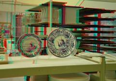 Delftware 3D (wim hoppenbrouwers) Tags: anaglyph stereo redcyan delftware 3d deporceleynefles