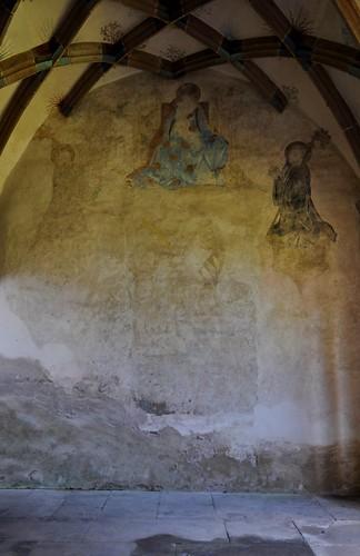 Maulbronn (Alemania). Monasterio. Parlatorio. Restos de pintura mral