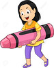 Kid Girl Carry Big Crayon (Bbb31burks) Tags: art artwork big carry carrying cartoonpeople child clipart color colorful crayon cutout earlyeducation education educational female giant girl gradeschool gradeschooler illustration isolated kid kindergarten little pink preschool preschooler school student study young cartoon lifestyle toon