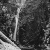Niagara Falls in Goldstream Provincial Park (cdnfish) Tags: goldstream goldstreampark goldstreamprovincialpark niagarafalls malahat malahatdrive victoriabc victoria yyj vancouverisland langford langfordbc bc britishcolumbia canada water snow ice waterfall tree trees cliff blackandwhite bw landscape sony sonya7m2 a7m2 35mmzeiss longexposure