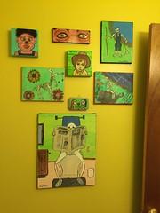 Bathroom Wall (Tobyotter) Tags: bathroom art