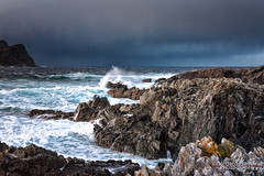 Broken coast (Usstan) Tags: wind nikon winter sigma møreogromsdal day sea norway seasons blue sunnmøre runde sigmaart herøy harsh d750 landscape storm coxi westcoast outdoor rough clouds 1224mm locations ocean lens norge costal water sky seascape waves rocks colors wideangle no