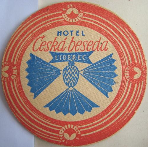 Liberec hotel beermat